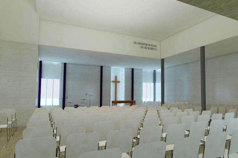 Uitbreiding kerk kalque Delft