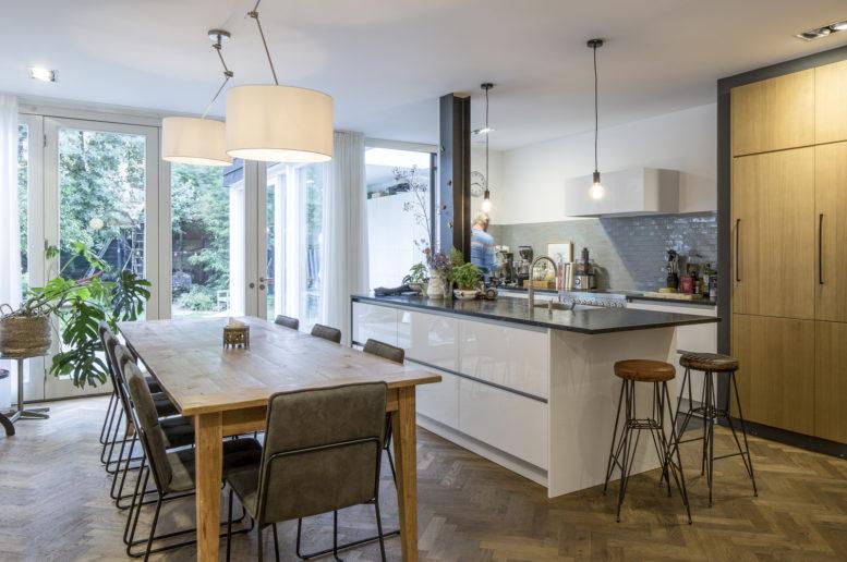 eigentijdse keuken om te leven
